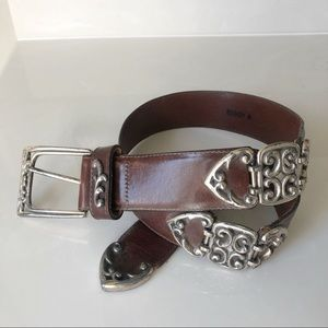 Women's Vintage 90's Brighton Leather Western Belt